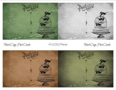 Bird Cage Post Cards - PDF