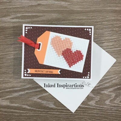 Valentine's Day Hugs - Double Stitched Hearts