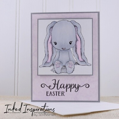 Happy Easter - Grey Bunny