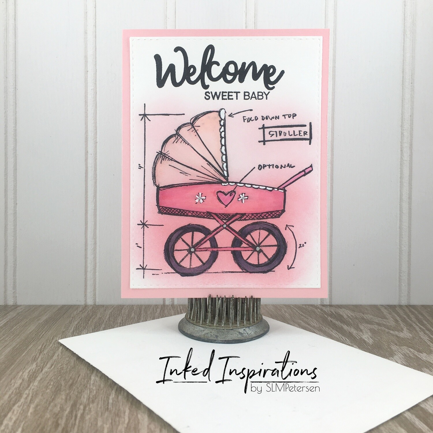 Welcome Sweet Baby - Pink Buggy