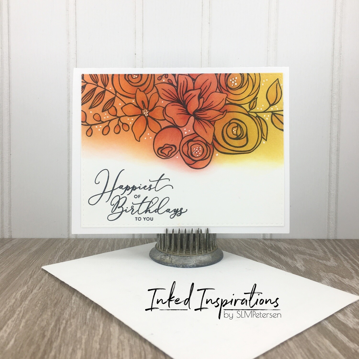 Happiest of Birthdays to You - Orange Floral