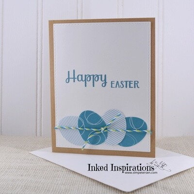 Happy Easter - Teal Eggs