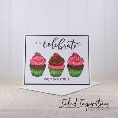 Let's Celebrate Bring on the Cupcakes - Strawberry Cupcakes