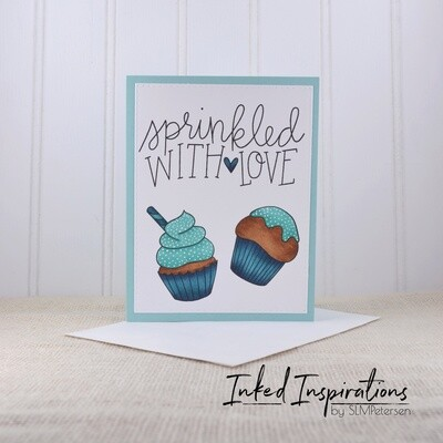 Sprinkled With Love - Teal Cupcakes