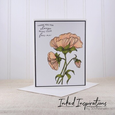 Thank You for Being There for Me - Peach Floral