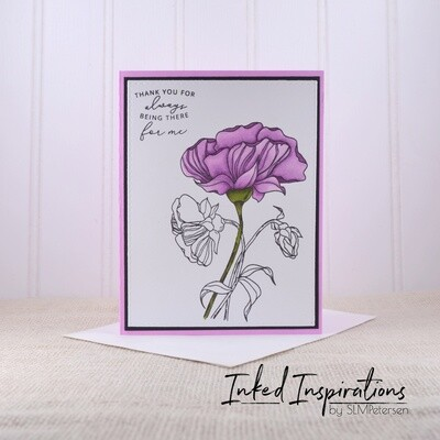 Thank You for Being There for Me - Purple Floral