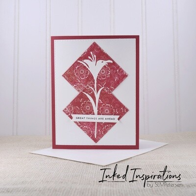 Great Things Are Ahead - Red & White Floral