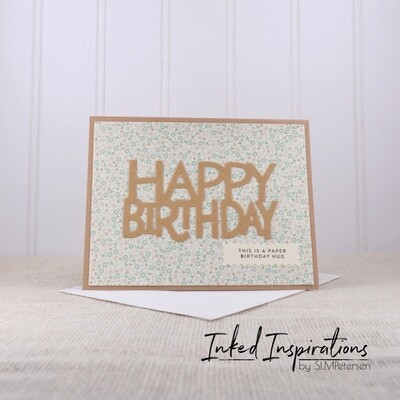 Happy Birthday - Brown Floral