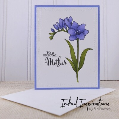 To a Special Mother - Blue Floral