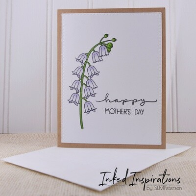 Happy Mother's Day - Pale Blue Floral