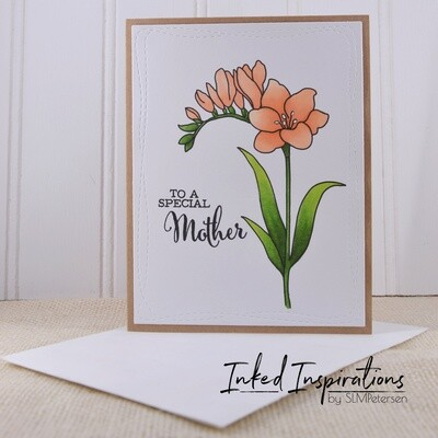 To a Special Mother - Peach Floral