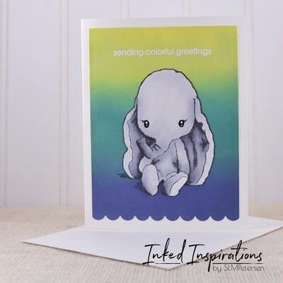Sending Colorful Greetings - Baby Elephant