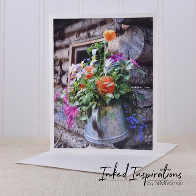Flowers in Coffee Pot - Original Photography