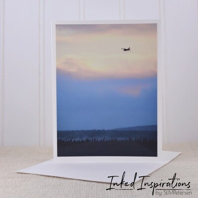 Bomber Drop During Mississippi Range Wildfire - Original Photography