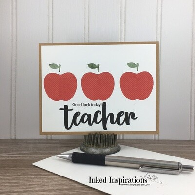 Good Luck Today Teacher - Apple Trio