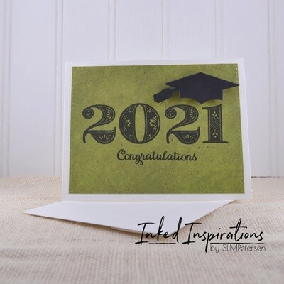 2021 Congratulations - Green Marble
