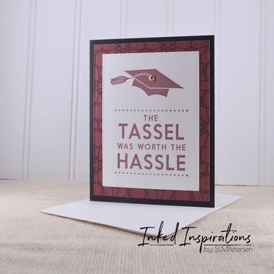 The Tassel was Worth the Hassle - Marron & Black