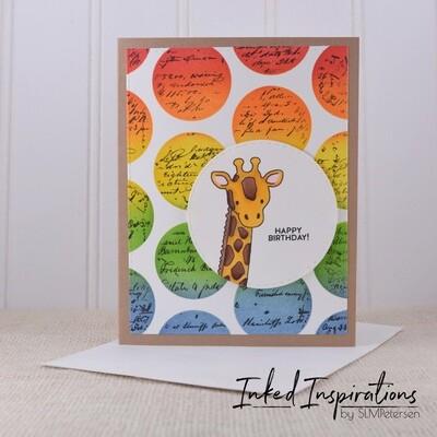 Happy Birthday - Giraffe