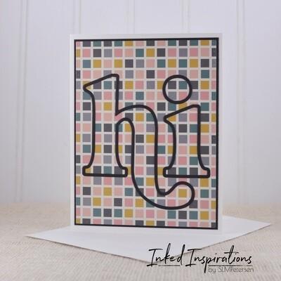 Hi - Checkered Background