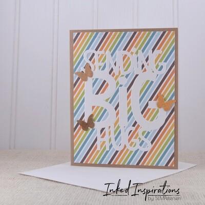 Sending Big Hugs - Stripes & Butterflies