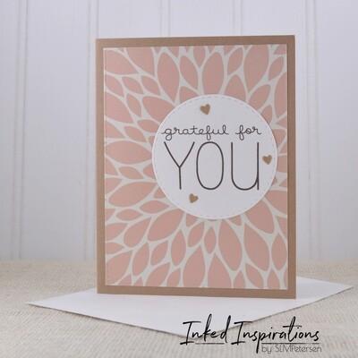 Grateful for You - Pink Floral