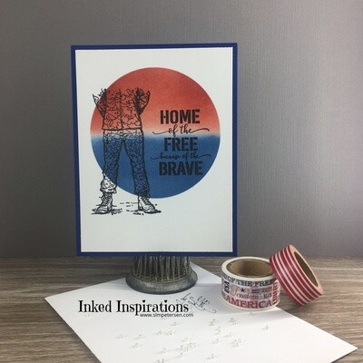 Home of the Free Because of the Brave - Red, White & Blue