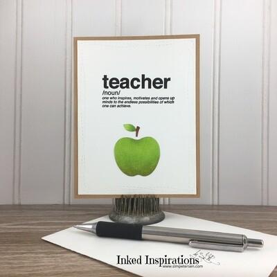 Teacher - Green Apple