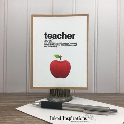 Teacher - Red Apple