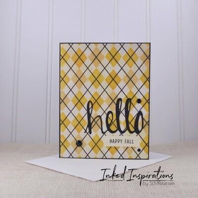 Hello Happy Fall - Fall Plaid