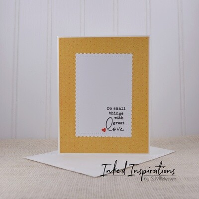 Do Small Things with Great Love - Yellow