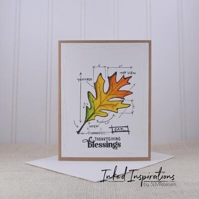 Thanksgiving Blessings - Birch Leaf