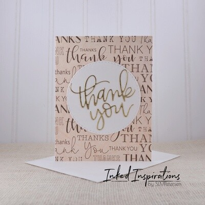 Thank You - Gold & Pale Pink