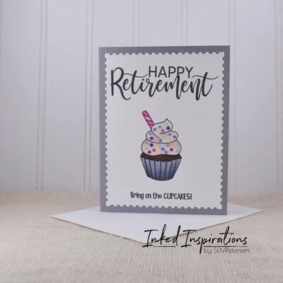 Happy Retirement - Chocolate Cupcake