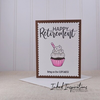 Happy Retirement - Chocolate Cupcake Pink