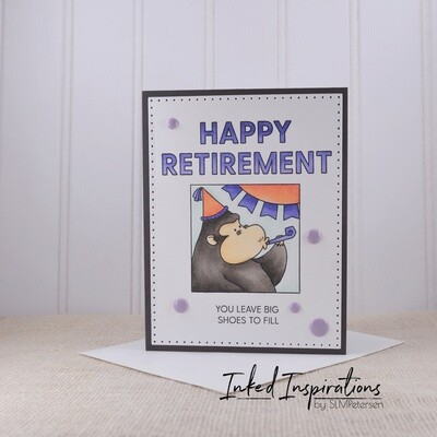 Happy Retirement - Purple Gorilla