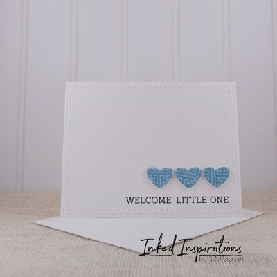 Welcome Little One - Blue Hearts