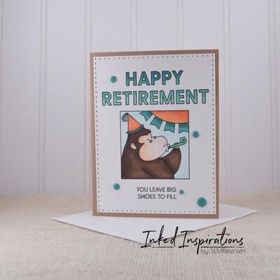 Happy Retirement - Teal Gorilla