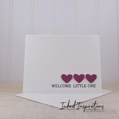 Welcome Little One - Purple Hearts