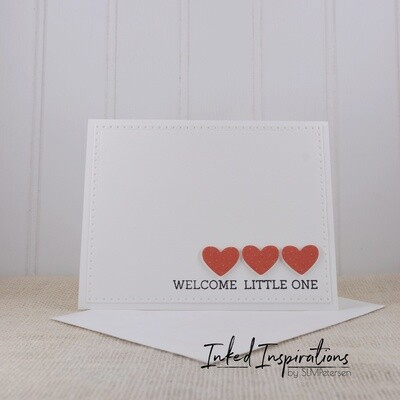 Welcome Little One - Red Hearts