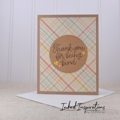 Thank You for Being Kind - Plaid