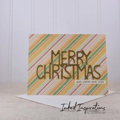 Merry Christmas - Diagonal Stripes