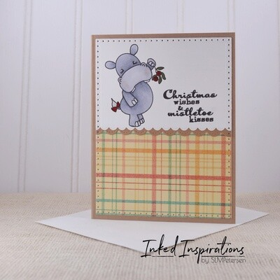 Christmas Wishes & Mistletoe Kisses - Hippo
