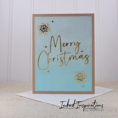 Merry Christmas - Gold Foil Letter Press