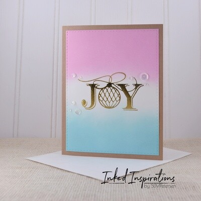 Joy - Gold Foil Letter Press