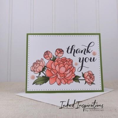Thank You - Pink Peonies