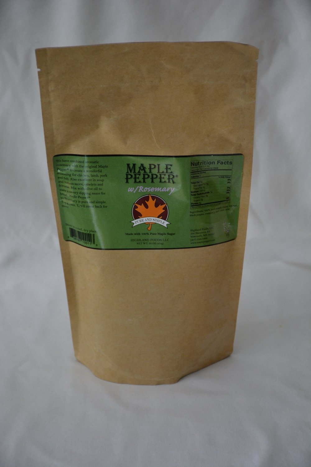 Maple Pepper® w/Rosemary: 1 lb. bag