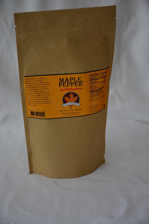 Maple Pepper® w/Habanero: 1 lb. bag