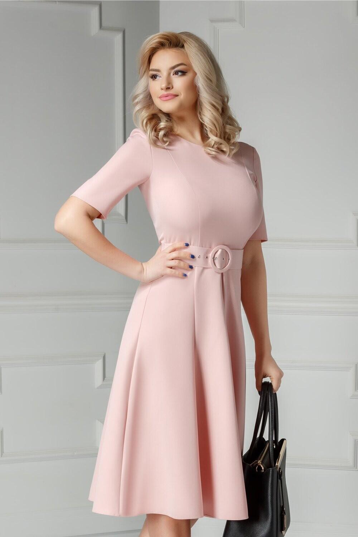 Pink Midi Swing Dress