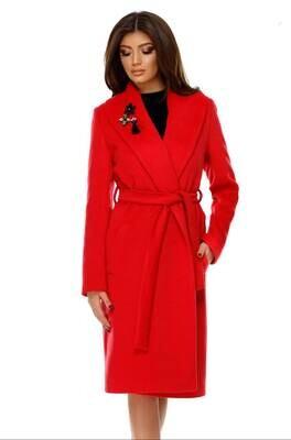 Belted Wrap Wool Coat