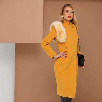 Pretty Girl Mustard Coat